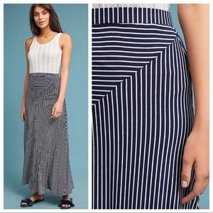 🆕NWT Anthropologie geometric pattern maxi skirt